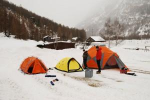Bergzelte im Wallis