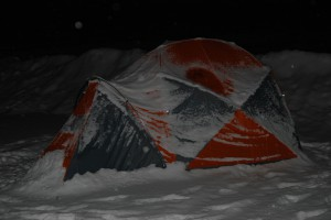 Mountain Hardware Satellite 6 im Schnee