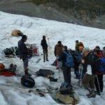 Besucher auf dem Gletscher
