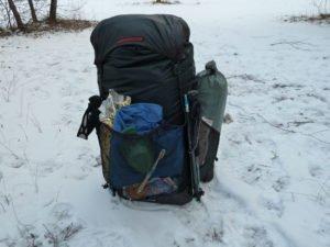 Laufbursche huckePACK für den Winter gepackt