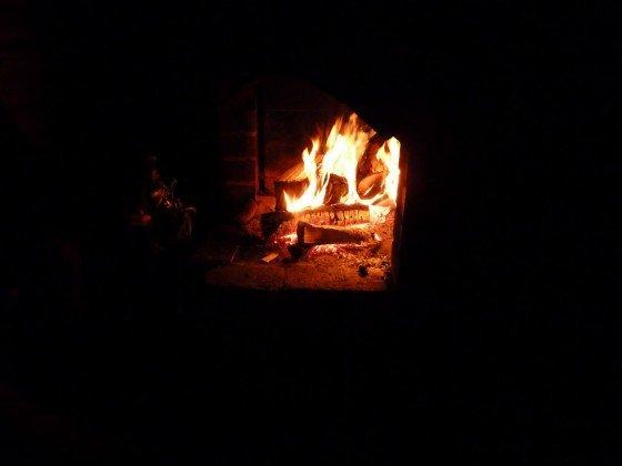Feuerstelle in Finland