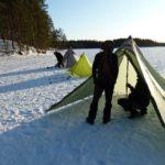 Shelter im Schnee fast fertig