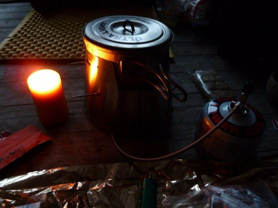UL Kochsetup mit Kerze