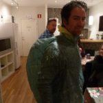 Carsten Jost in MYOG Cuben Regenjacke