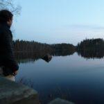 Dämmerung am See