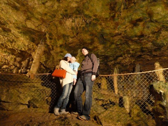 Höhlenforscher Familie