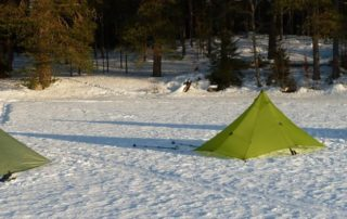 Pyramid Shelters im Winter
