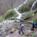 Bewegung am Wasserfall