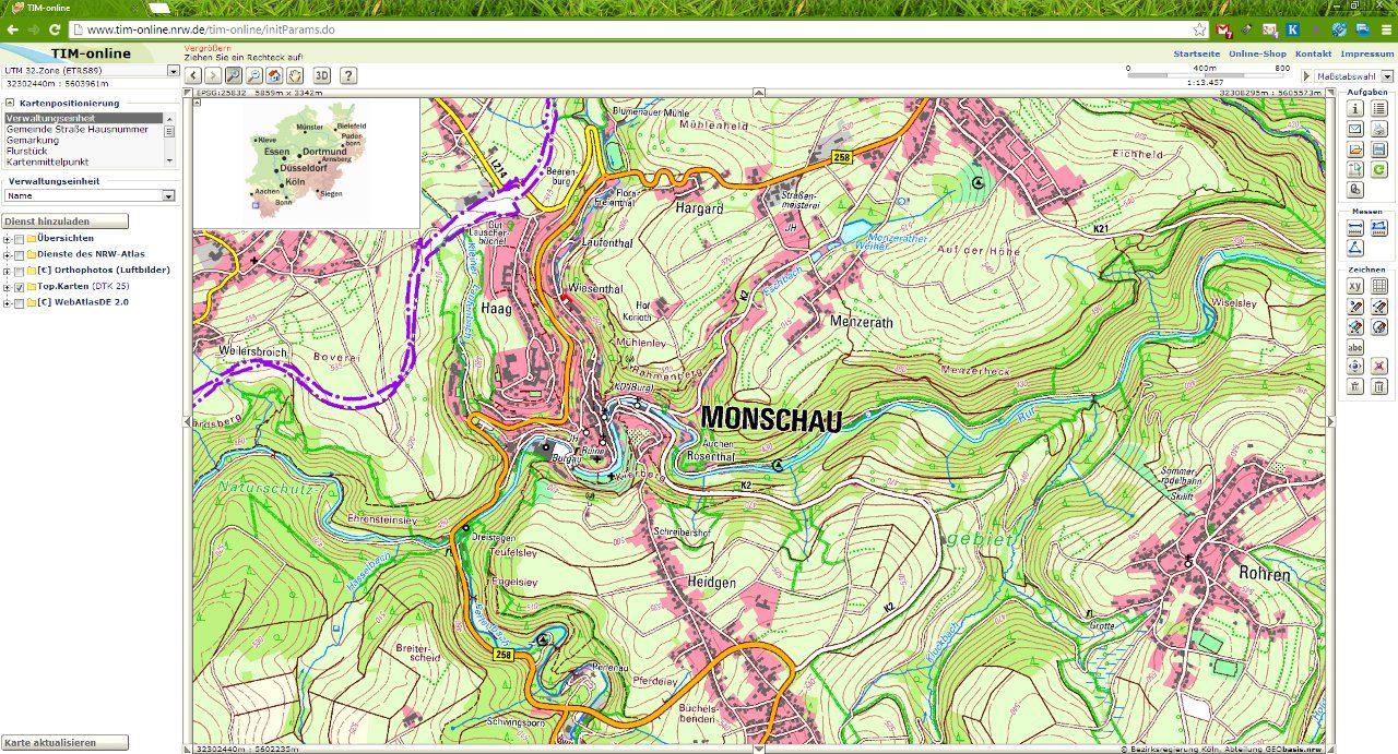 Kostenlose Digitale Wander Karten Online Ansehen Outdoor Blog