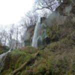 Wasserfall von unten