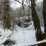 Zugefrorener Wasserfall in der Rhön