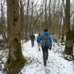 Leichtwanderer im Winter