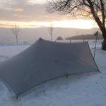 MLD TrailStar im Sonnenaufgang bei Schnee