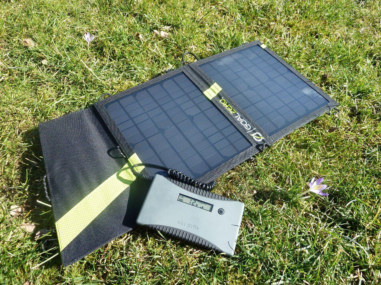 Goal Zero Nomad 13 and Minigorilla Solar Kit