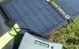 Solar-Kit bestehend aus Goal Zero Nomad 13 und Minigorilla