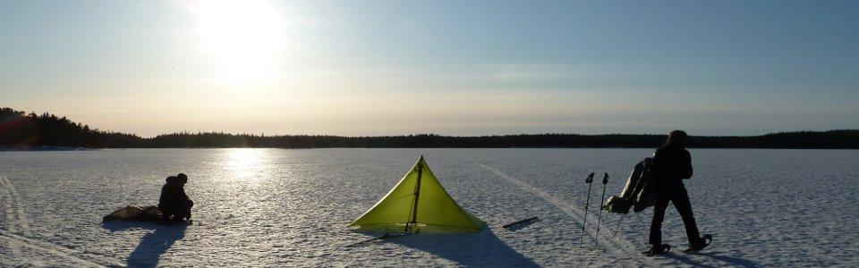 Zelten im Winter