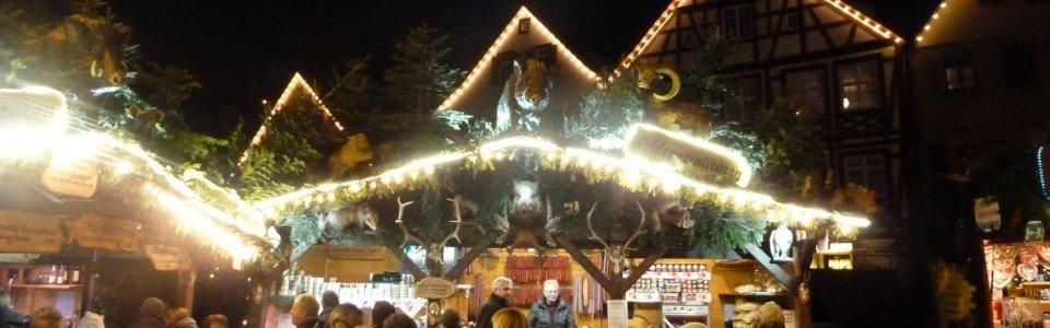 Outdoor auf dem Weihnachtsmarkt