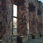 Alte Außenmauer der Burg Nideggen