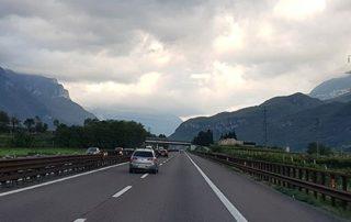 Auf der Brennerautobahn Richtung CVSM