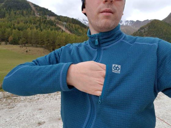 66 North Grettir Zipped Jacket Brusttasche