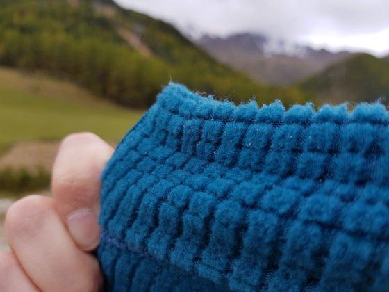 Die Wabenstruktur im Fleece