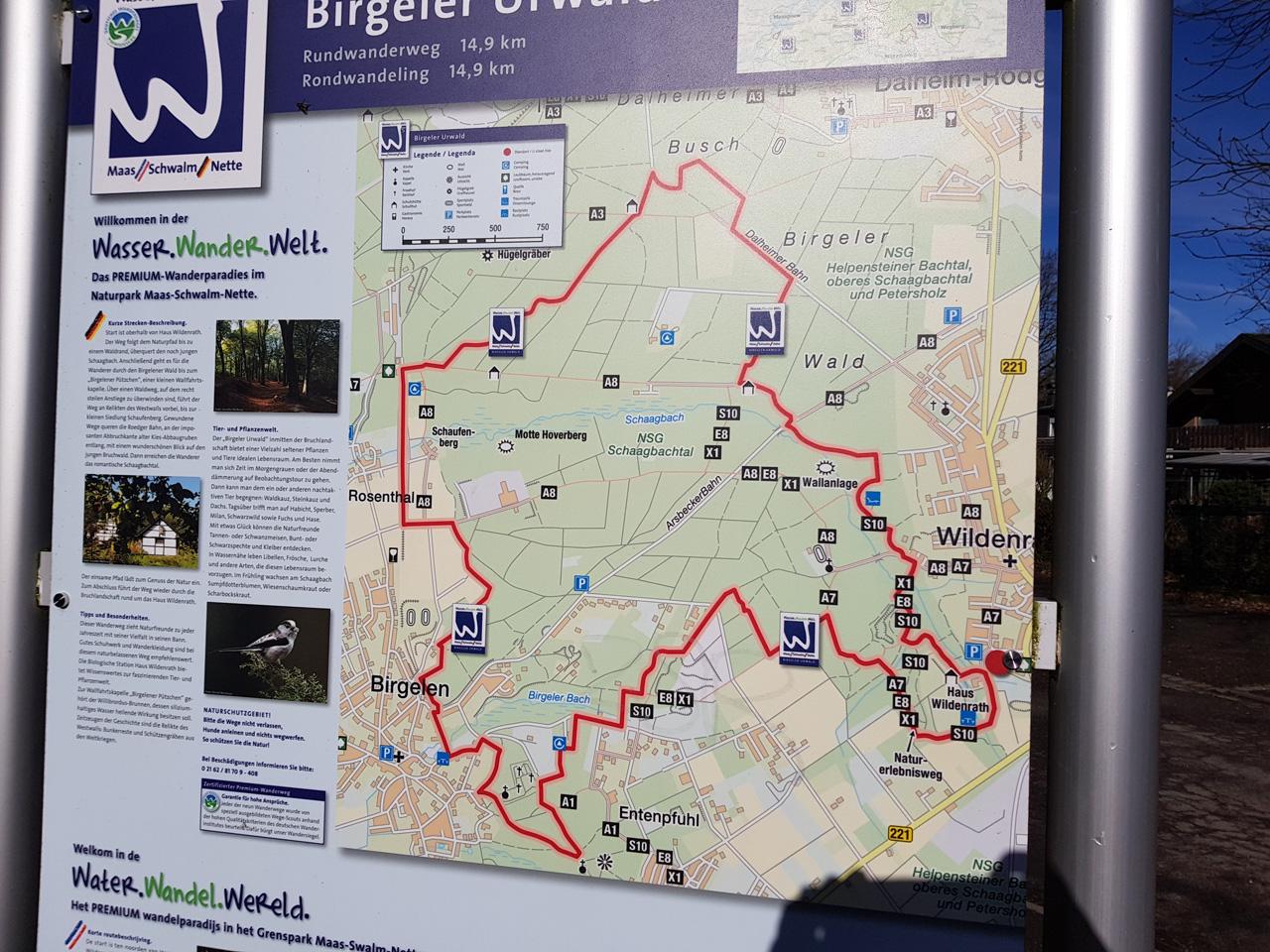 Karte vom Birgeler Urwald