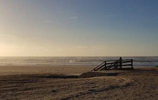 Nachhaltigkeit - Sonnenuntergang am Strand